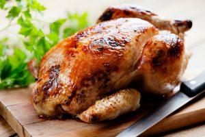 suggestion de présentation : poulet